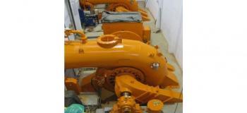 Gerador usina hidrelétrica